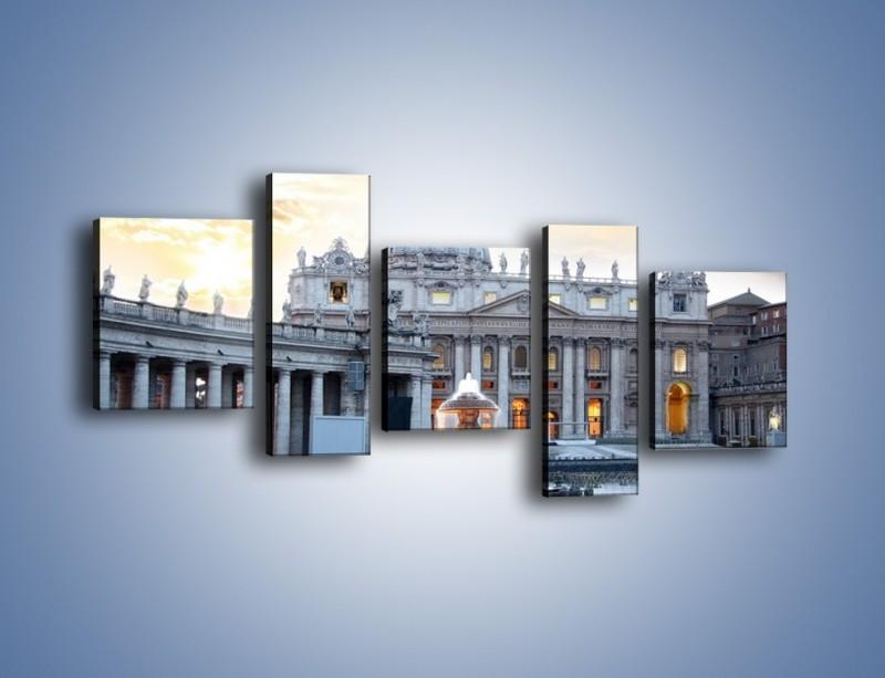 Obraz na płótnie – Bazylika św. Piotra w Watykanie – pięcioczęściowy AM722W7