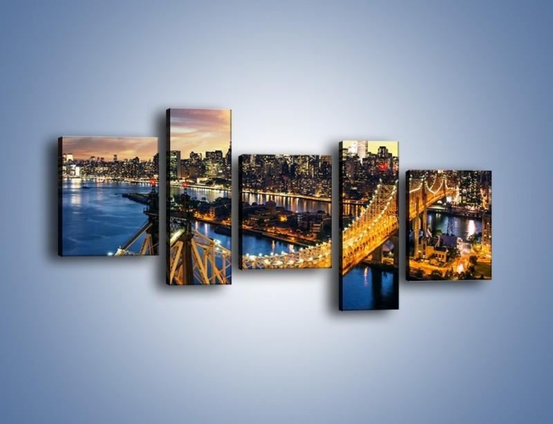 Obraz na płótnie – Queensboro Bridge w Nowym Yorku – pięcioczęściowy AM768W7