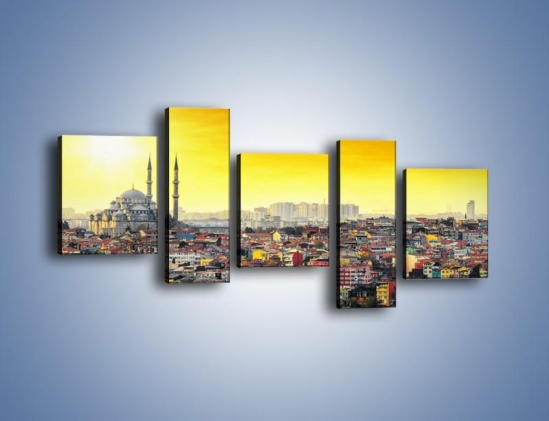 Obraz na płótnie – Zachód słońca nad Stambułem – pięcioczęściowy AM788W7