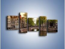 Obraz na płótnie – Amsterdamski kanał – pięcioczęściowy AM800W7