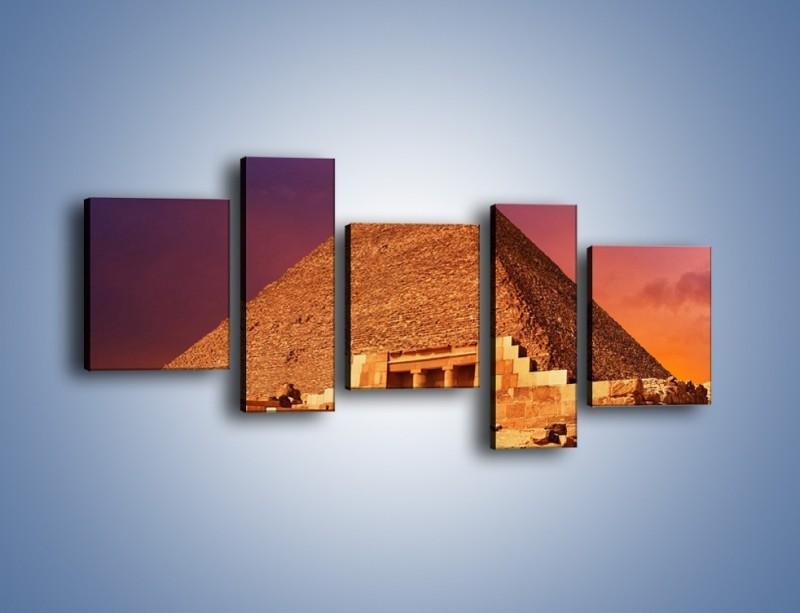 Obraz na płótnie – Piramida w Egipcie – pięcioczęściowy AM812W7