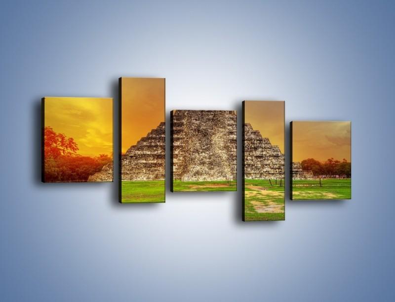 Obraz na płótnie – Piramida Kukulkana w Meksyku – pięcioczęściowy AM814W7