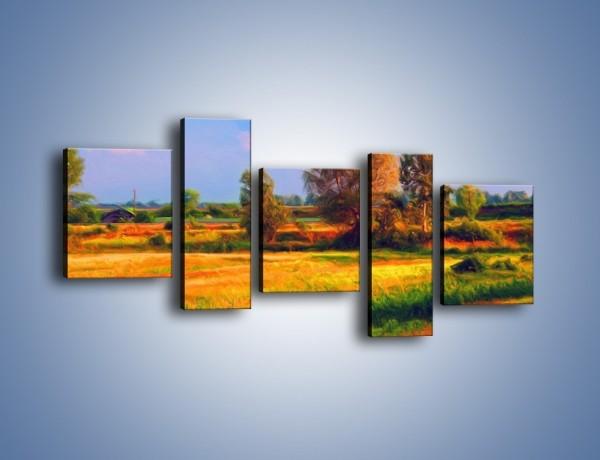 Obraz na płótnie – Kolory naszej wsi – pięcioczęściowy GR009W7