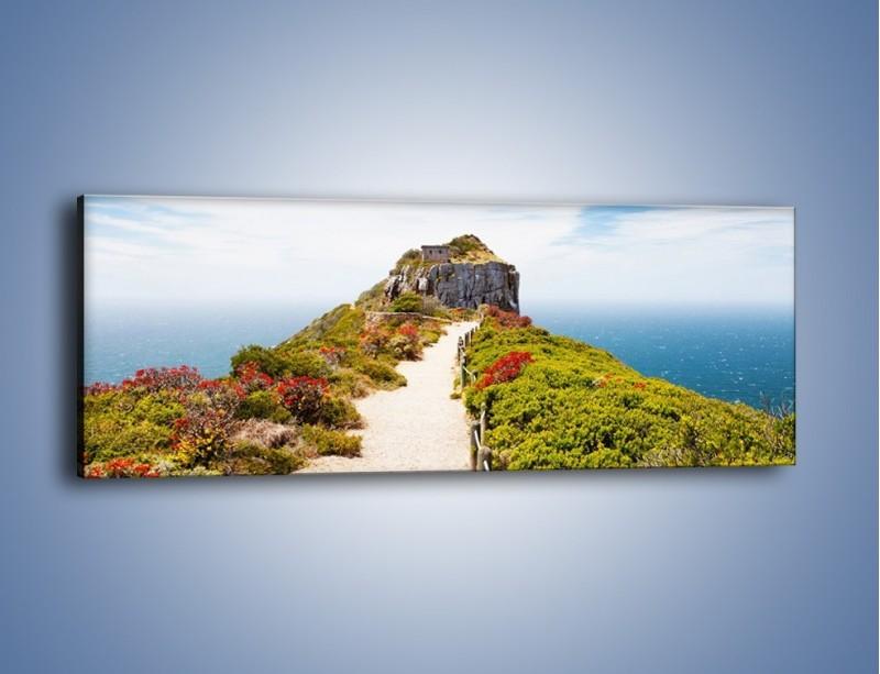 Obraz na płótnie – Szczyt u chmur – jednoczęściowy panoramiczny KN480