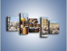 Obraz na płótnie – Cerkiew w trakcie zimy – pięcioczęściowy GR024W7