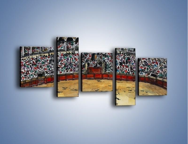 Obraz na płótnie – Walka torreadora z bykiem – pięcioczęściowy GR040W7