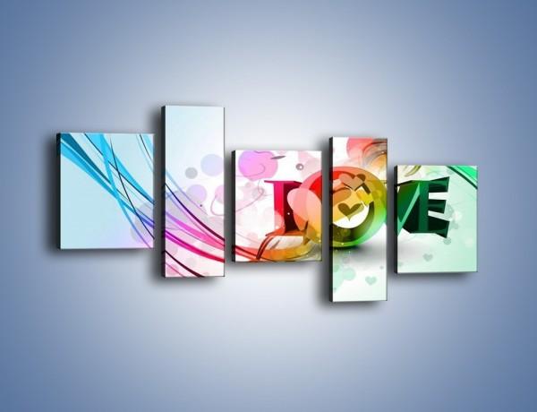 Obraz na płótnie – Przez kolor aż do miłości – pięcioczęściowy GR124W7