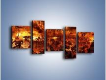 Obraz na płótnie – Bitwa z demonami – pięcioczęściowy GR137W7