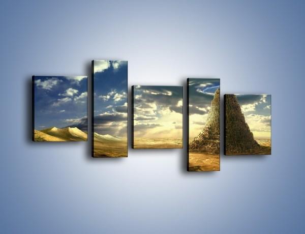 Obraz na płótnie – Przez górę aż do chmur – pięcioczęściowy GR139W7
