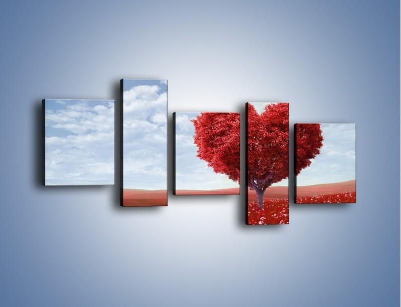 Obraz na płótnie – Polaną w stronę miłości – pięcioczęściowy GR249W7