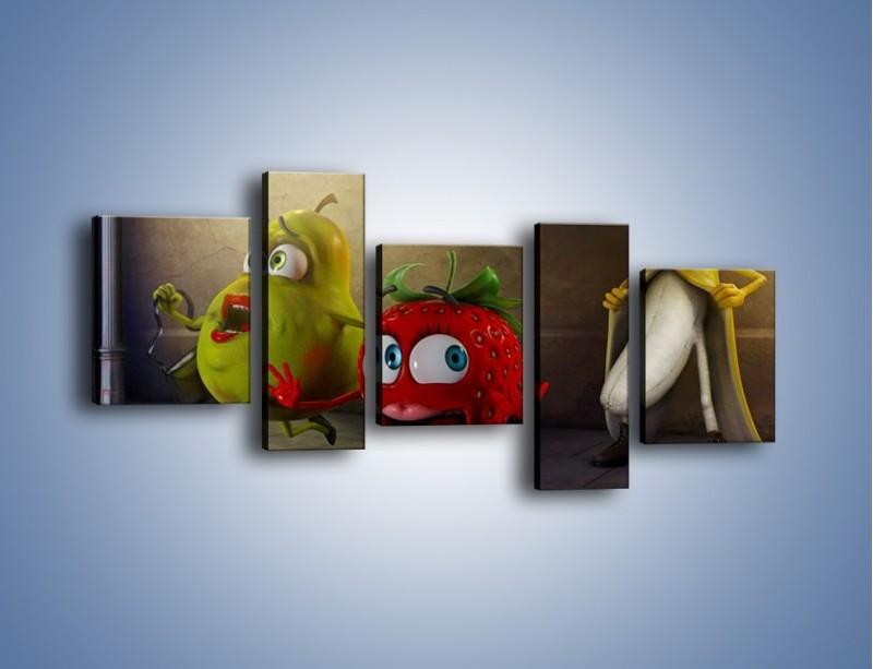 Obraz na płótnie – Strach w owocowych oczach – pięcioczęściowy GR253W7