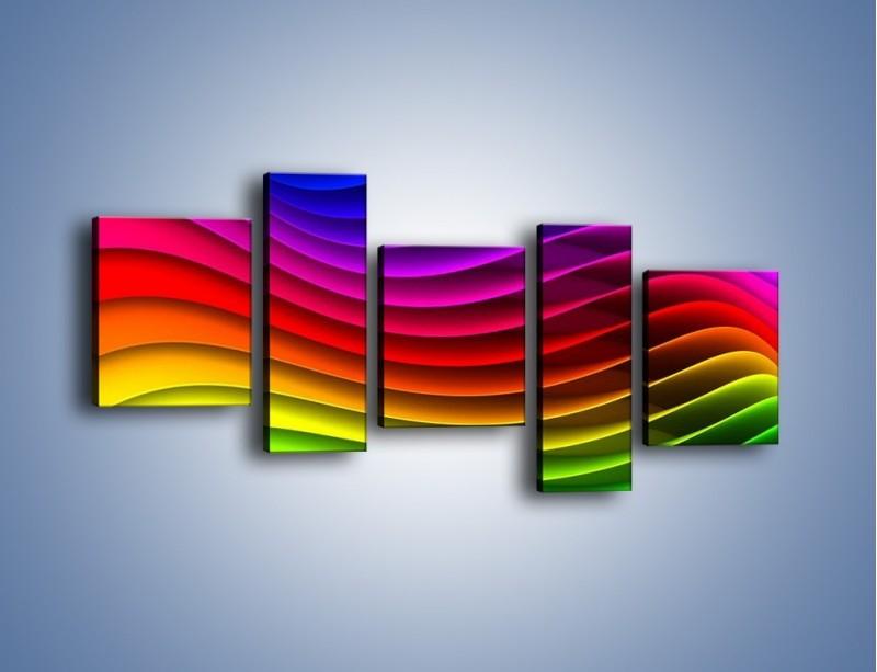 Obraz na płótnie – Falą w kolorze – pięcioczęściowy GR393W7