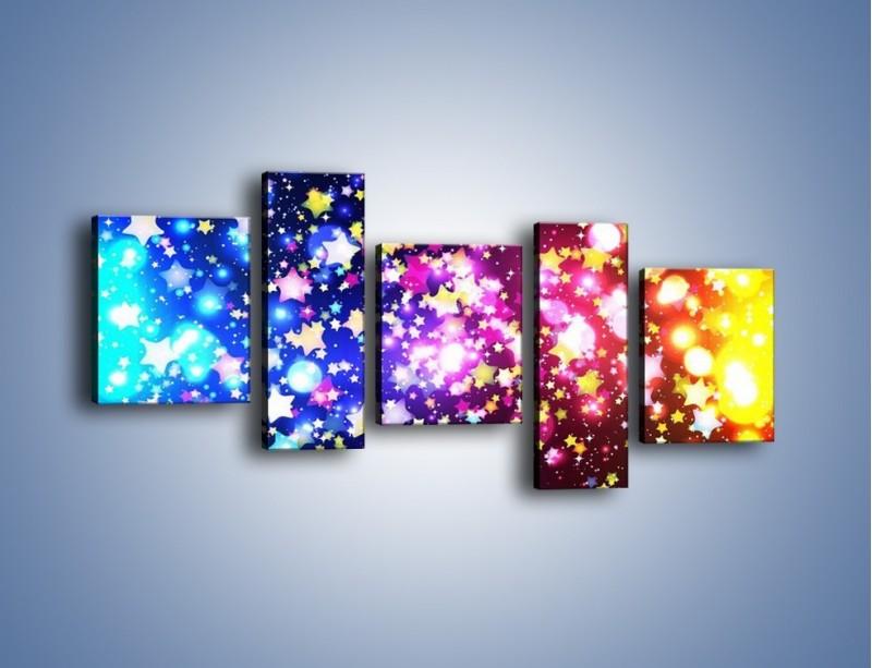 Obraz na płótnie – Kolory widziane nocą – pięcioczęściowy GR432W7