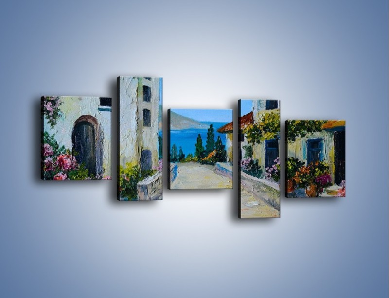 Obraz na płótnie – Urok włoskich uliczek – pięcioczęściowy GR459W7