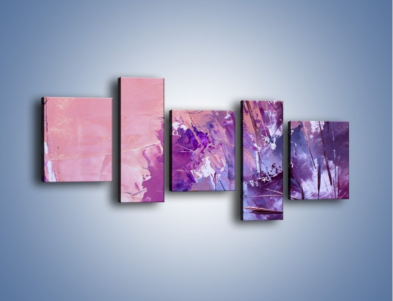 Obraz na płótnie – Mocna barwa fioletu – pięcioczęściowy GR472W7