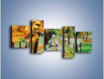 Obraz na płótnie – Aleją wśród drzew – pięcioczęściowy GR487W7