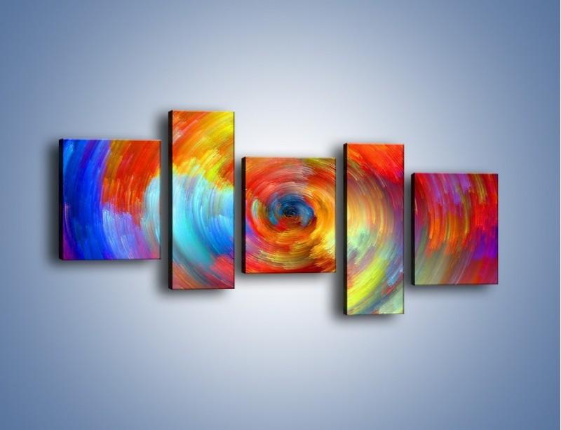 Obraz na płótnie – Kolorowy wir – pięcioczęściowy GR502W7