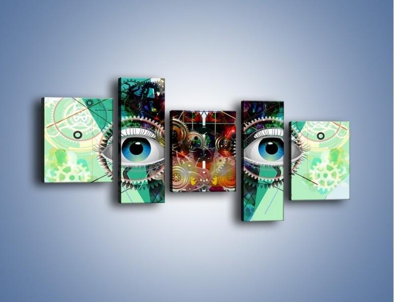 Obraz na płótnie – Mechanicznie otwarte oczy – pięcioczęściowy GR504W7