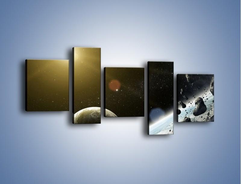 Obraz na płótnie – Dotrzeć między planety – pięcioczęściowy GR534W7