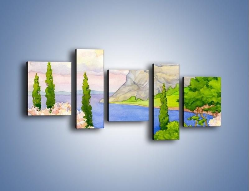 Obraz na płótnie – Krajobraz jak z pocztówki – pięcioczęściowy GR541W7