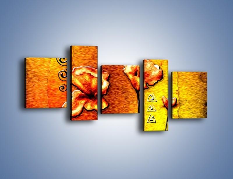 Obraz na płótnie – Maki z dodatkami – pięcioczęściowy GR574W7
