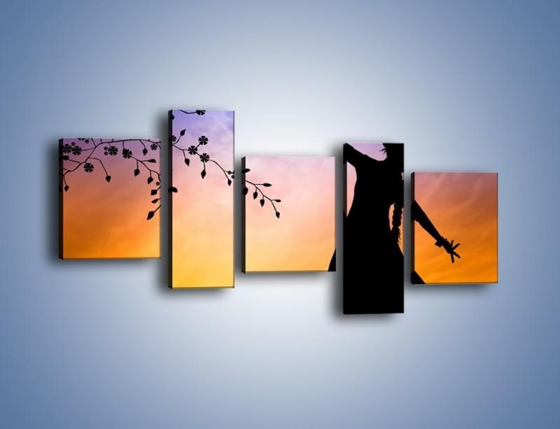 Obraz na płótnie – Wieczorny cygański taniec – pięcioczęściowy GR597W7