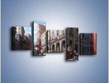 Obraz na płótnie – Codzienne życie na kubie – pięcioczęściowy GR627W7
