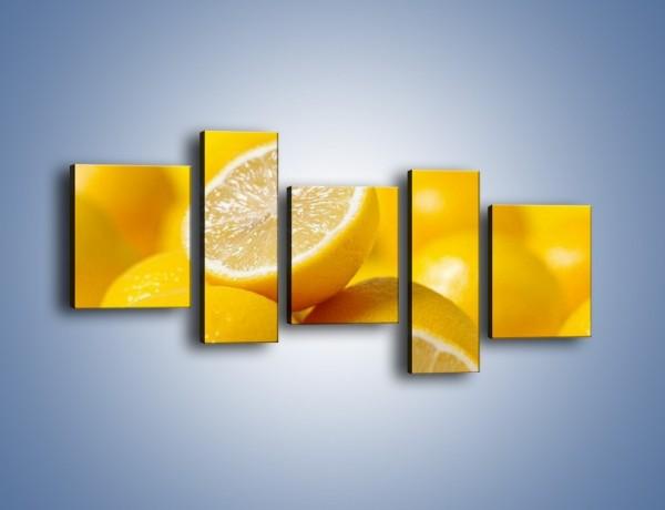 Obraz na płótnie – Kwaśne soczyste cytrynki – pięcioczęściowy JN031W7