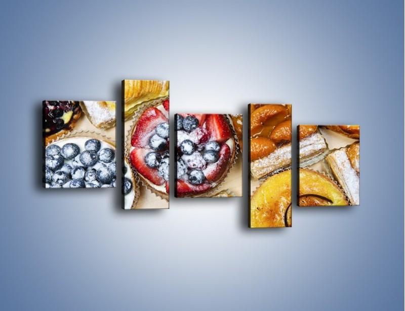 Obraz na płótnie – Kolorowe wypieki z dodatkiem owoców – pięcioczęściowy JN032W7