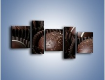 Obraz na płótnie – Czekoladowe praliny w foremkach – pięcioczęściowy JN040W7