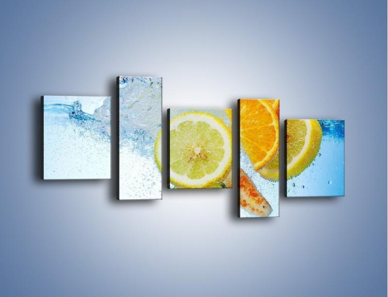 Obraz na płótnie – Zatopione plastry owoców – pięcioczęściowy JN057W7