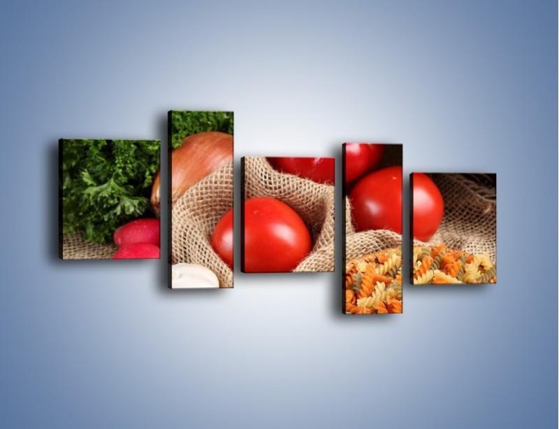 Obraz na płótnie – Makaron z warzywami – pięcioczęściowy JN076W7