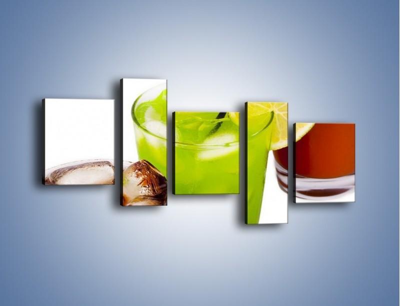 Obraz na płótnie – Kwaśno-słodkie drinki – pięcioczęściowy JN093W7