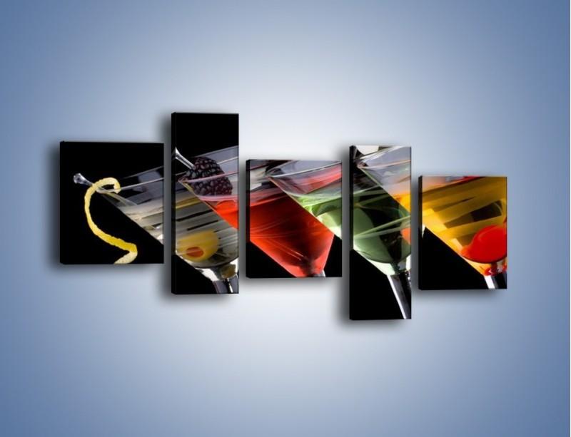 Obraz na płótnie – Alkoholowa zabawa do rana – pięcioczęściowy JN100W7