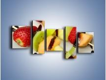 Obraz na płótnie – Czekoladowo-owocowe szaszłyki – pięcioczęściowy JN112W7