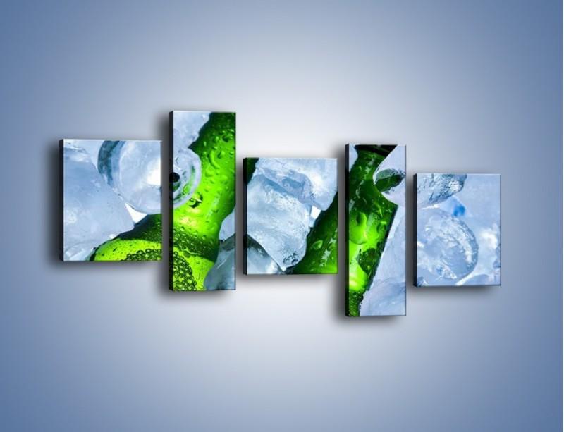 Obraz na płótnie – Czas na zimne piwko – pięcioczęściowy JN148W7