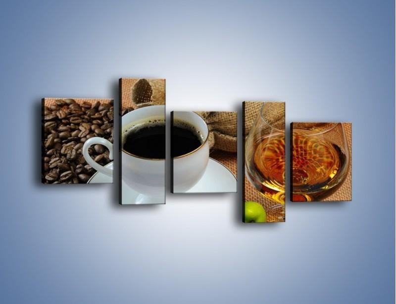 Obraz na płótnie – Wieczorowa kawa z prądem – pięcioczęściowy JN166W7