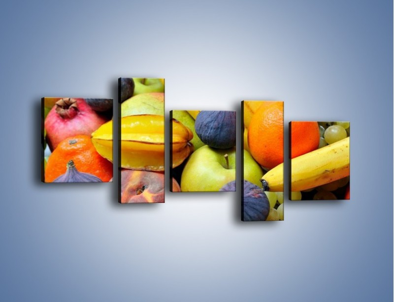 Obraz na płótnie – Owocowe kolorowe witaminki – pięcioczęściowy JN173W7