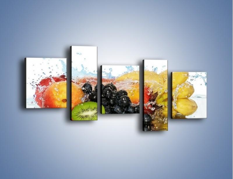 Obraz na płótnie – Owocowe nuty skąpane w wodzie – pięcioczęściowy JN176W7