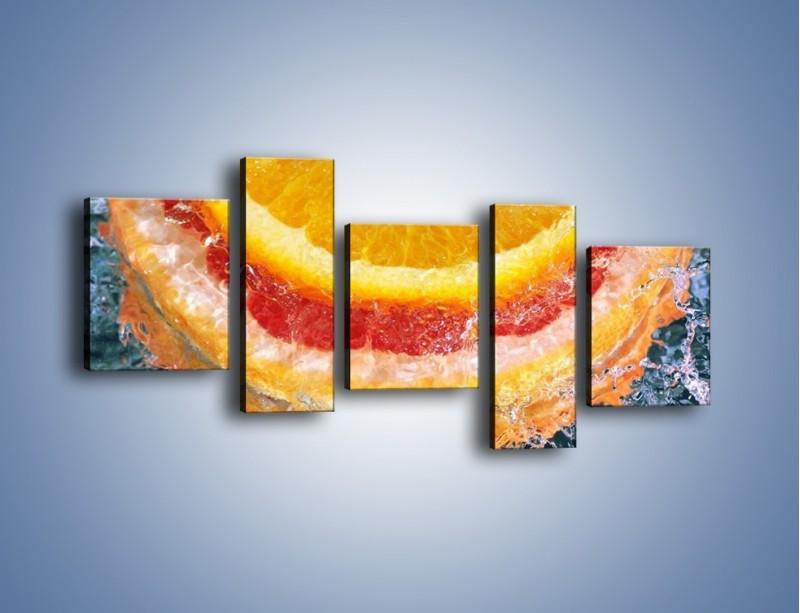 Obraz na płótnie – Cytrusowe trio – pięcioczęściowy JN177W7