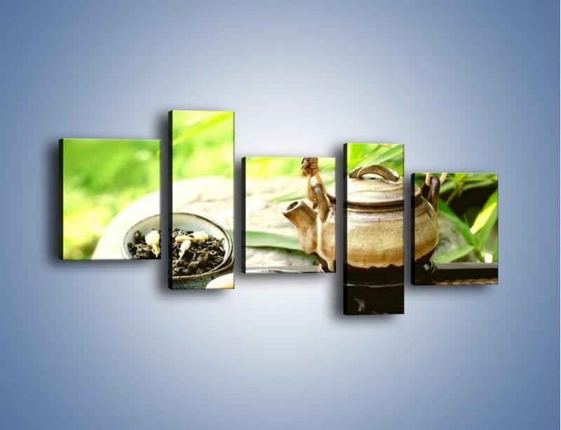 Obraz na płótnie – Herbata na świeżym powietrzu – pięcioczęściowy JN249W7