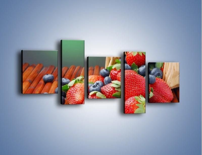 Obraz na płótnie – Truskawkowo-jagodowy obłęd – pięcioczęściowy JN251W7