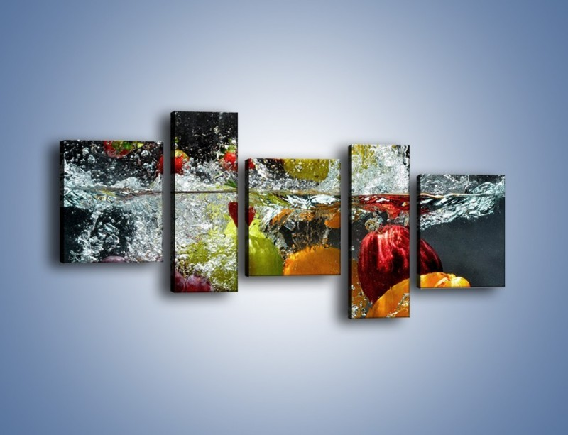 Obraz na płótnie – Głębokie owocowe zanurzenie – pięcioczęściowy JN253W7