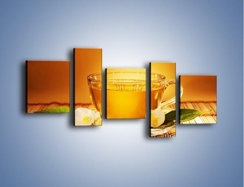 Obraz na płótnie – Delikatny smak herbaty – pięcioczęściowy JN261W7