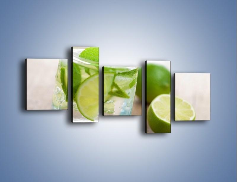 Obraz na płótnie – Limonkowy napój – pięcioczęściowy JN262W7