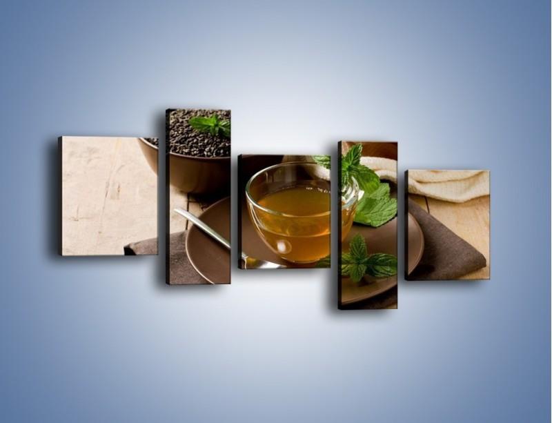 Obraz na płótnie – Filiżanka herbaty na poprawę humoru – pięcioczęściowy JN264W7