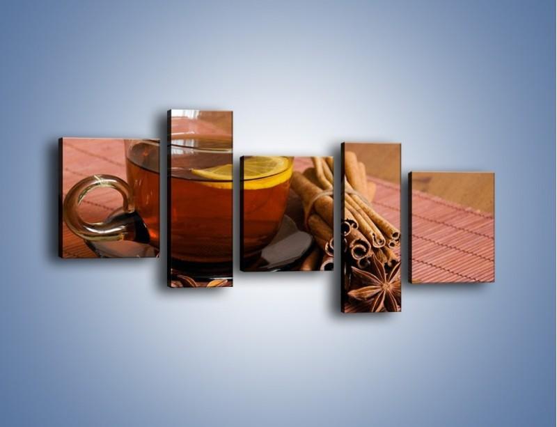 Obraz na płótnie – Rozgrzewająca filiżanka herbaty – pięcioczęściowy JN266W7