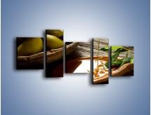Obraz na płótnie – Bogactwa wydobyte z oliwek – pięcioczęściowy JN270W7