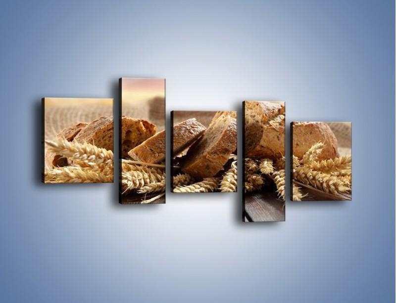 Obraz na płótnie – Świeży pszenny chleb – pięcioczęściowy JN287W7