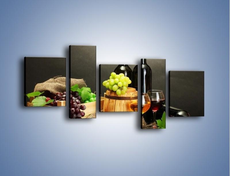 Obraz na płótnie – Wytrawne smaki wina – pięcioczęściowy JN289W7
